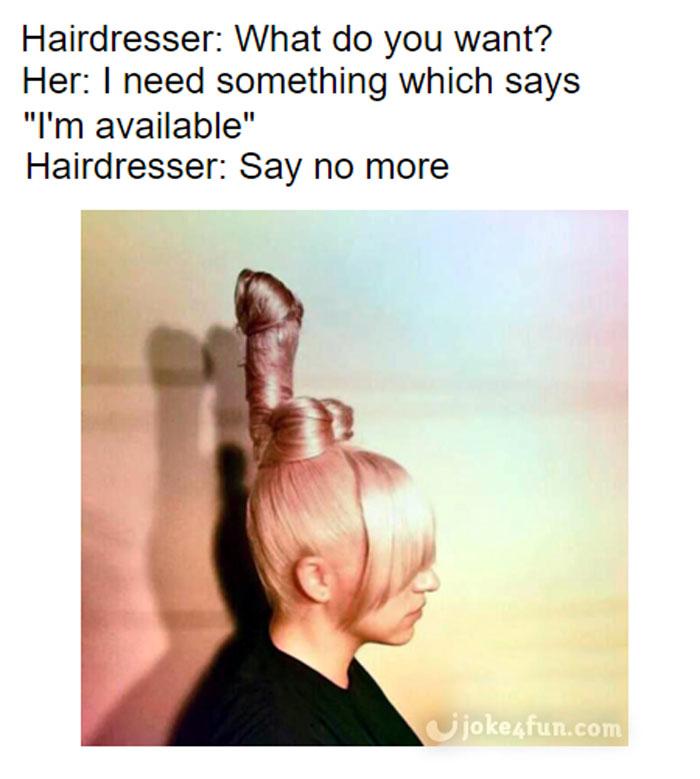Joke4fun Memes Hairdresser Nails It
